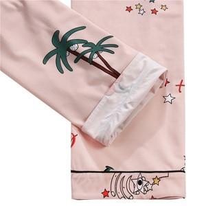 Image 5 - FINETOO נשים פיג מה סטי קיץ קצר בגדי הלבשת יפה הדפסת פיג מה כותנה ארוך מכנסיים נקבה הלבשת גברת בית ללבוש