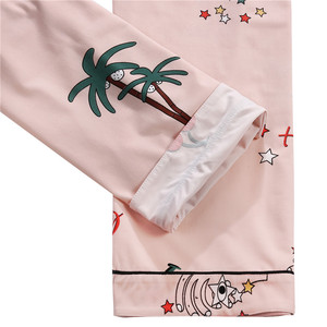 Image 5 - Finetoo Vrouwen Pyjama Sets Zomer Korte Kleding Nachtkleding Mooie Print Pyjama Katoen Lange Broek Vrouwelijke Nachtkleding Lady Homewear