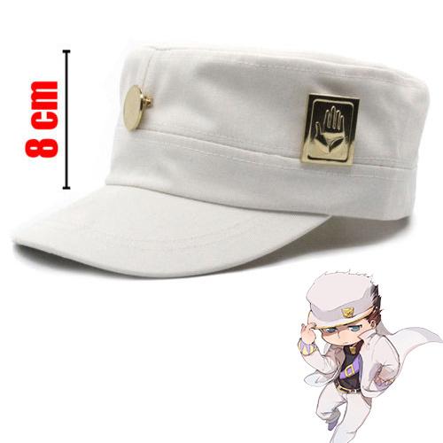 ¡Hot Anime JoJo es extraño aventura Jotaro Kujo ver/Joseph Ver! Sombrero + placa Cosplay Otaku regalo
