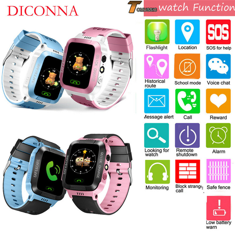 Smart Watch Kids SOS Call Anti Lost Watch With Remote Camera SIM Calls Gifts New