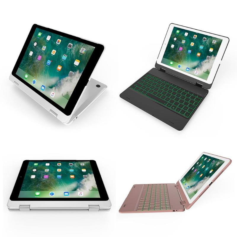 Hot Wireless Keyboard Flip Case Cover Stand for iPad Dual Rotation Shafts Backlit Bluetooth Keyboard for iPad Air 1 2 Pro 9.7 new for coque ipad pro 10 5 keyboard case wireless bluetooth flip stand backlit abs cover for ipad pro 10 5 2017 keyboard cover