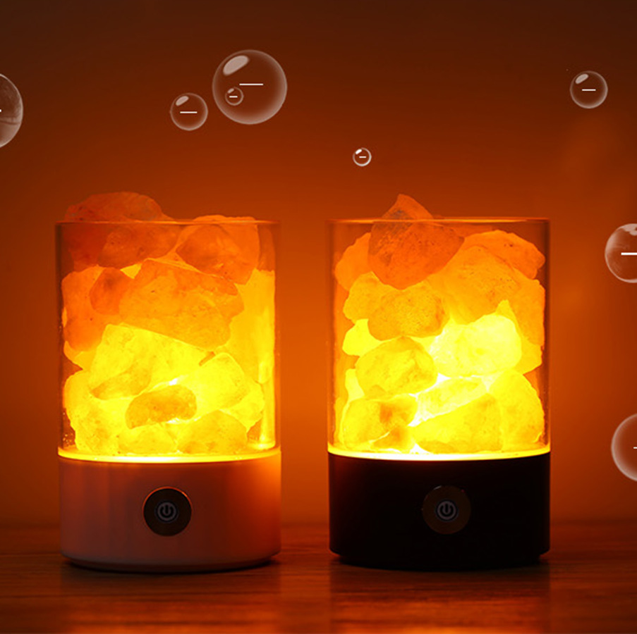 Creative Bedroom Salt Lamp Novelty Lights Crystal Salt Stone Lamp Negative Ion Air Purifies the Lamp Sleep with Small Salt LampCreative Bedroom Salt Lamp Novelty Lights Crystal Salt Stone Lamp Negative Ion Air Purifies the Lamp Sleep with Small Salt Lamp