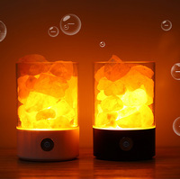 Creative Bedroom Salt Lamp Novelty Lights Crystal Salt Stone Lamp Negative Ion Air Purifies the Lamp Sleep with Small Salt Lamp