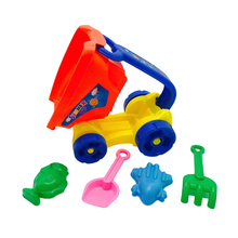 5pcs Outdoor Plastic Funny Joyful Creative Beach Playset Bucket Toy Beach Toys Set Sand Toy for Kids Toddlers Children