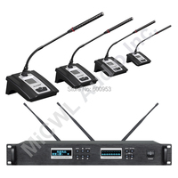 MiCWL Digital Wireless Conference Microphone System Meeting Room Set 1 Chairman 49 Delegate + USB Rechargeable Battery Type