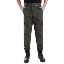 3b876576 Высокое качество армейский зеленый пылезащитный износ-износостойкие брюки  мужские новые крутые рабочие брюки в большом