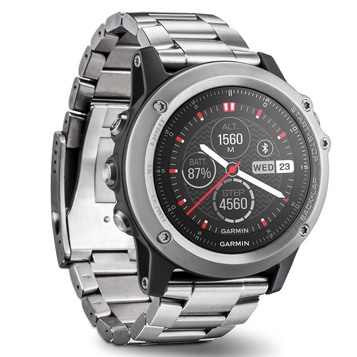 Original Garmin FENIX 3 Bluetooth 4.0 Sapphire Mirror Dial Smart Watch 100m Waterproof Thermometer GPS Compass Altimeter Watch
