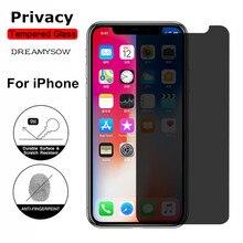 9H 2.5D Privacy Temperato Protezione Dello Schermo di Vetro Per il iPhone X XS XR XS max 4 4S 5 5S SE 5C 7 8 Più Privacy Film di Buona Qualità