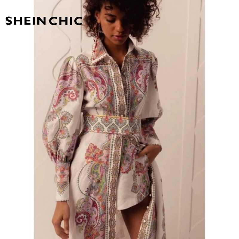 Runway Summer 2019 Designer Long Dress With Shorts Two Piece Set Of Women Elegant Single Breasted set Boho Chic Two Piece Suits