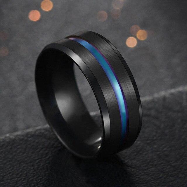 טבעת מטיטניום הכולל פס צבעוני 2