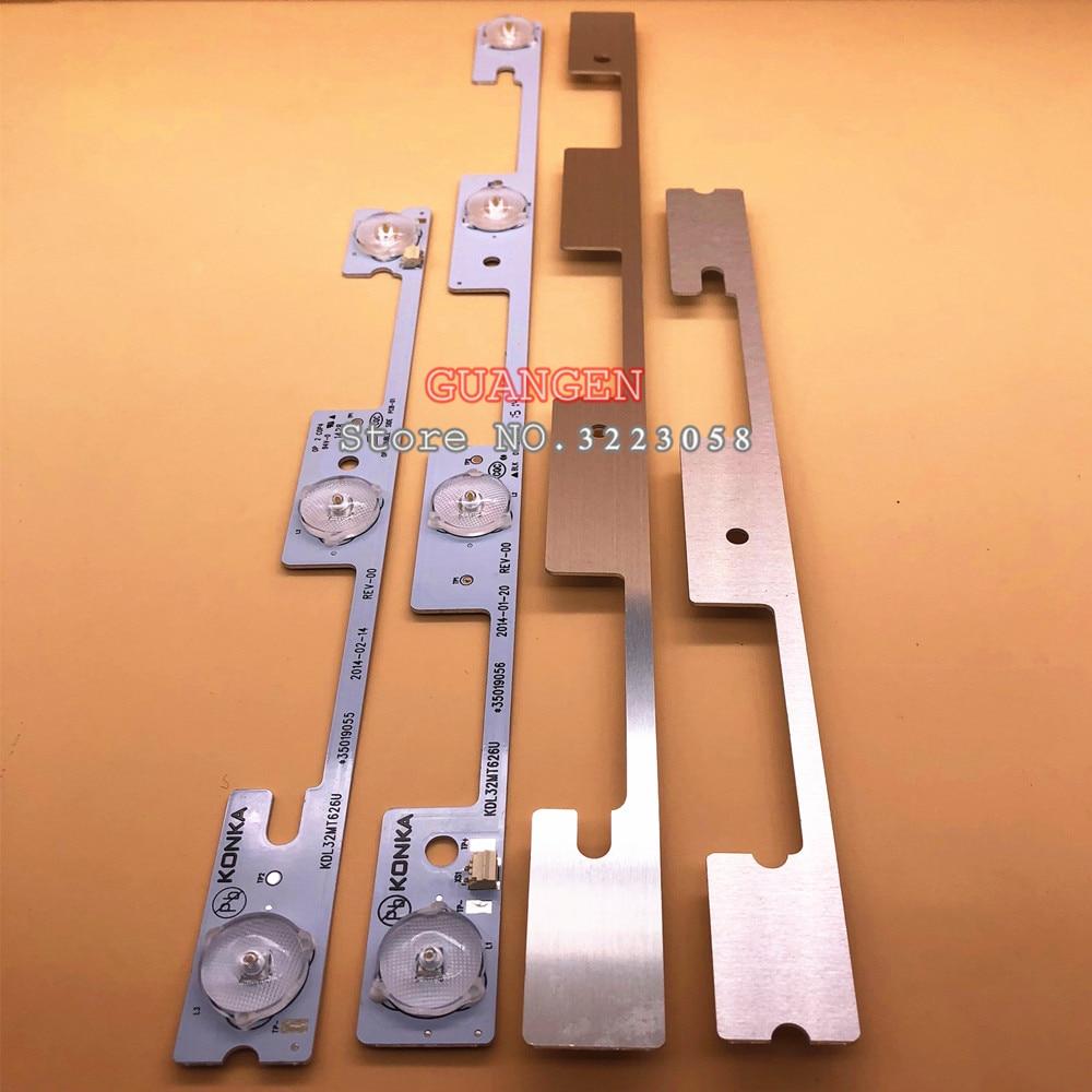 60PCS LED Strips Bar Lights Working For KDL32MT626U 35019055 35019056 30PCS*4LED+30PCS*3LED 1LED=6V