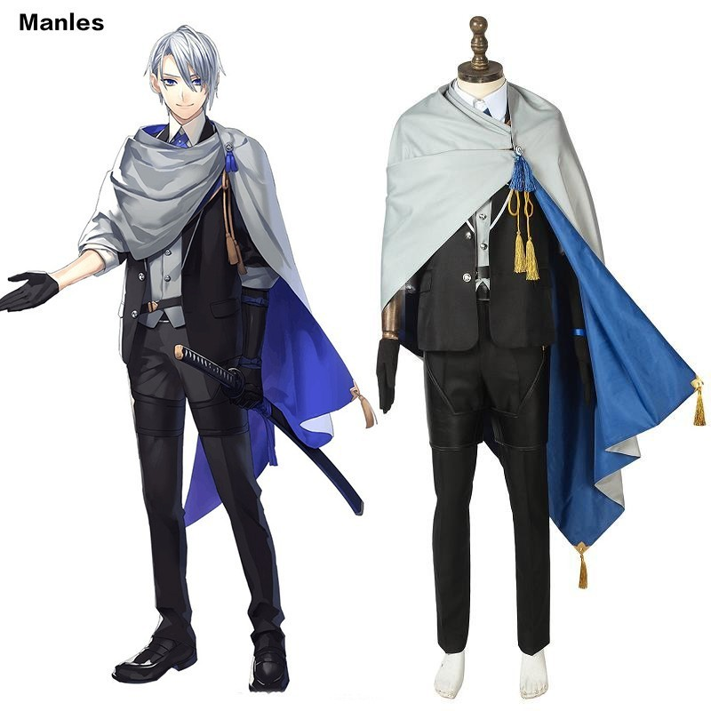 Game Anime Yamanbagiri Chogi Costume Jurakutei Touken Ranbu Carnival Adult Halloween Custom Made Full Uniform Men Outfit Coat