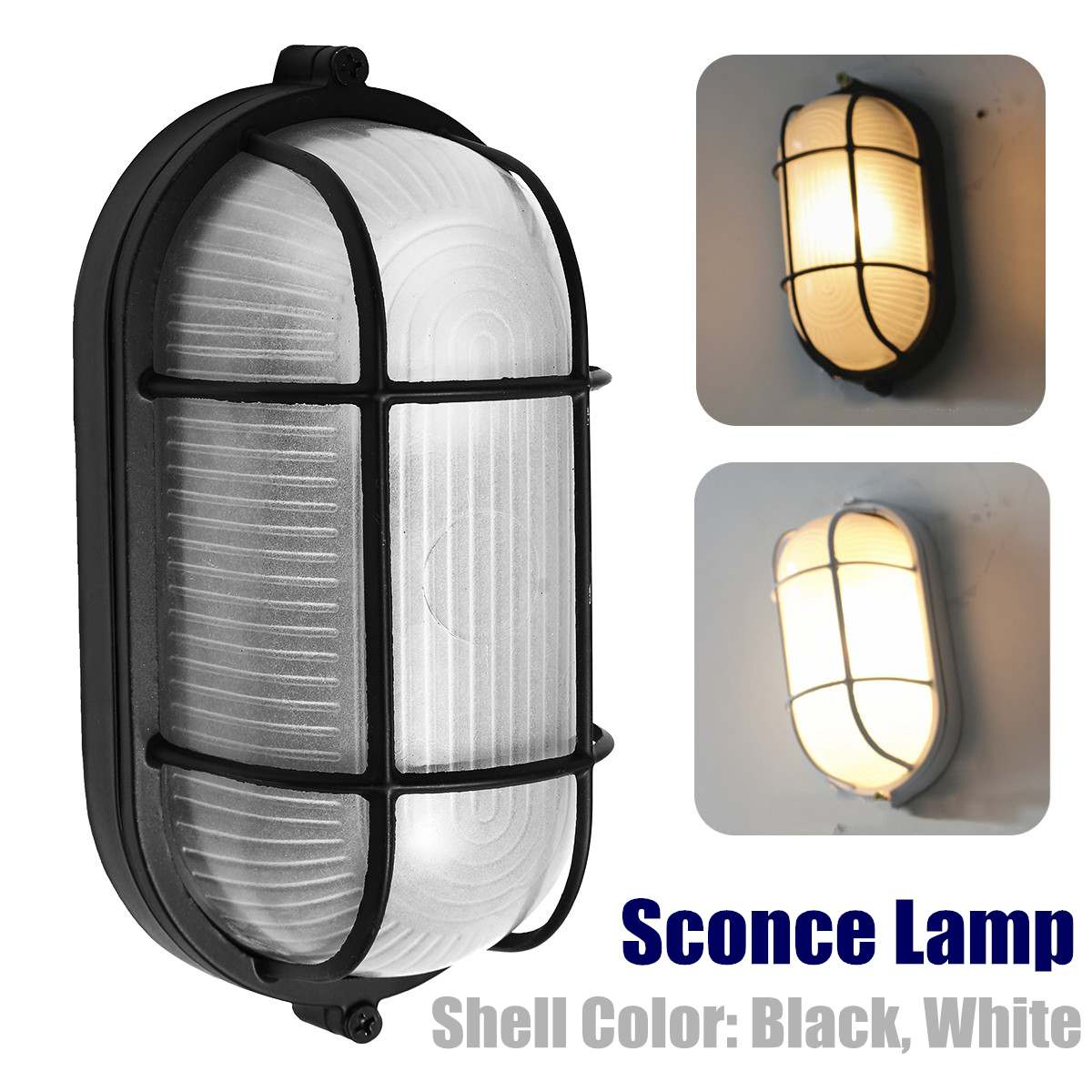 Fixture Indoor Vintage Garden Wall Light Sconce Lamp Bedroom Porch Night Light Decoration Outdoor Lighting Black/White E27