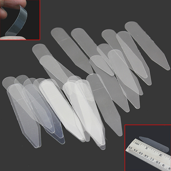200Pcs Plastic Collar Stiffeners Stays Bones Set For Dress Shirt Men's Gifts Clear Plastic Collar Stays
