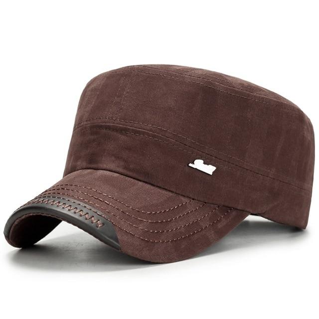 ed9b83456c6ea8 Casual Military Hat For Men Women Army Flat Caps Snapback Vintage Cotton  Black Hats 2019 Fashion Male Baseball Outdoor Cap Gorra