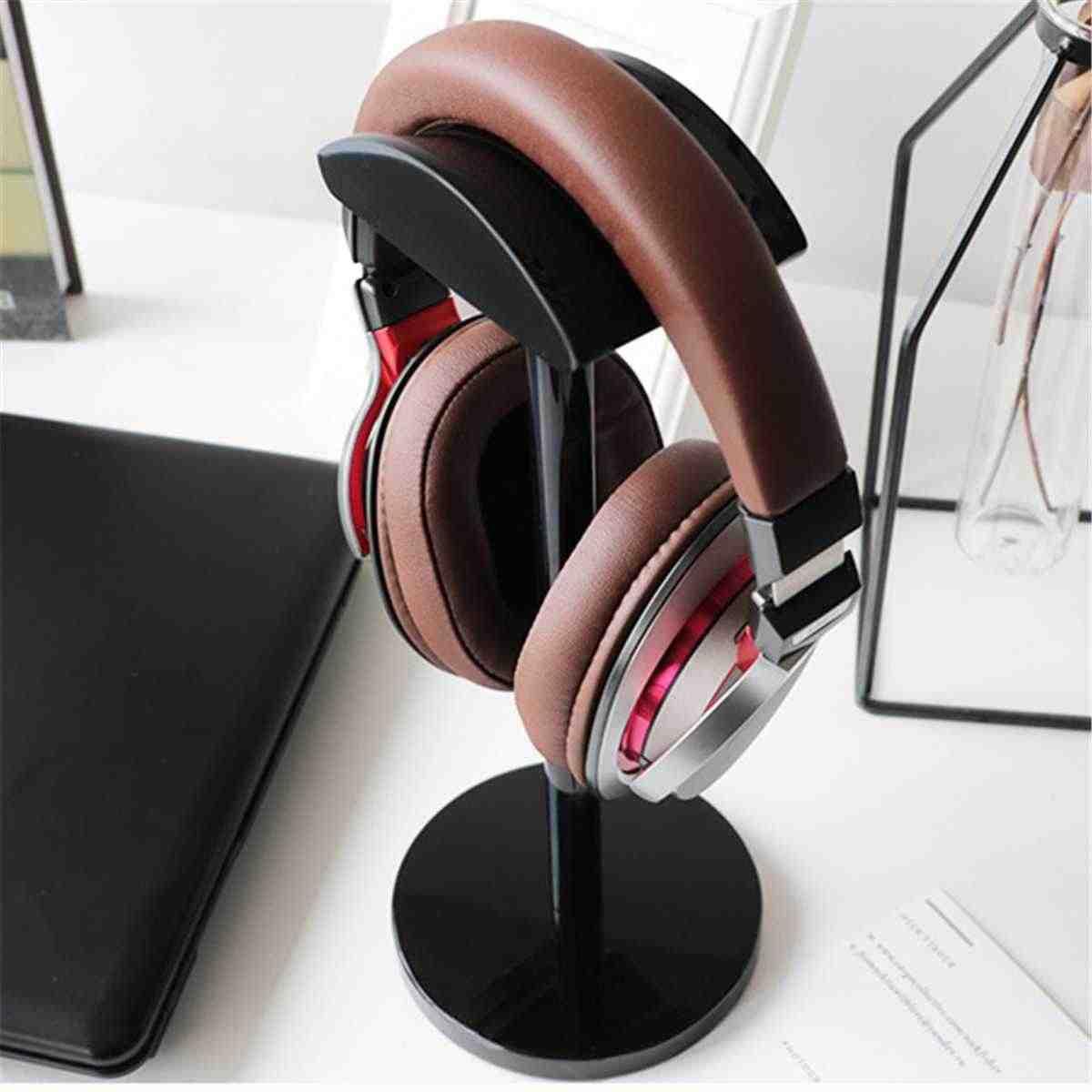 Acrylic Headphone Earphone Headset Stand Hanger Bracket Desk Display Shelf Rack Organizer Earphone Accessories 2 Colors