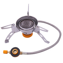 3500W Portable Outdoor Folding Gas Stove Camping Equipment Hiking Picnic Igniter Ultralight Camping Split Gas Stove цена и фото