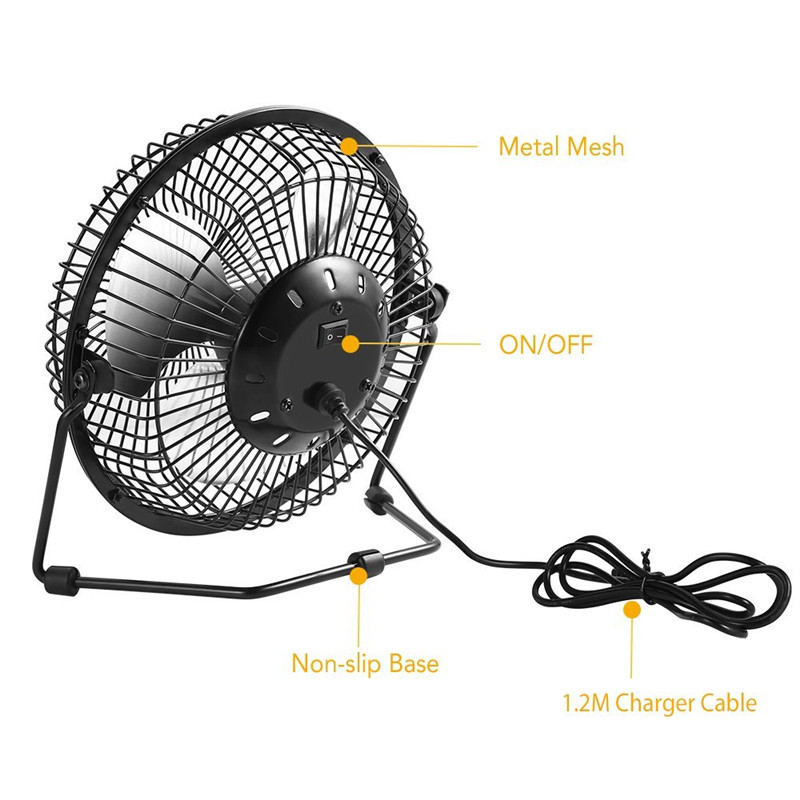 SB 5W metal Fan Black Solar Panel Powered +U 8Inch Cooling Ventilation Car Cooling Fan for Outdoor Traveling Fishing Home