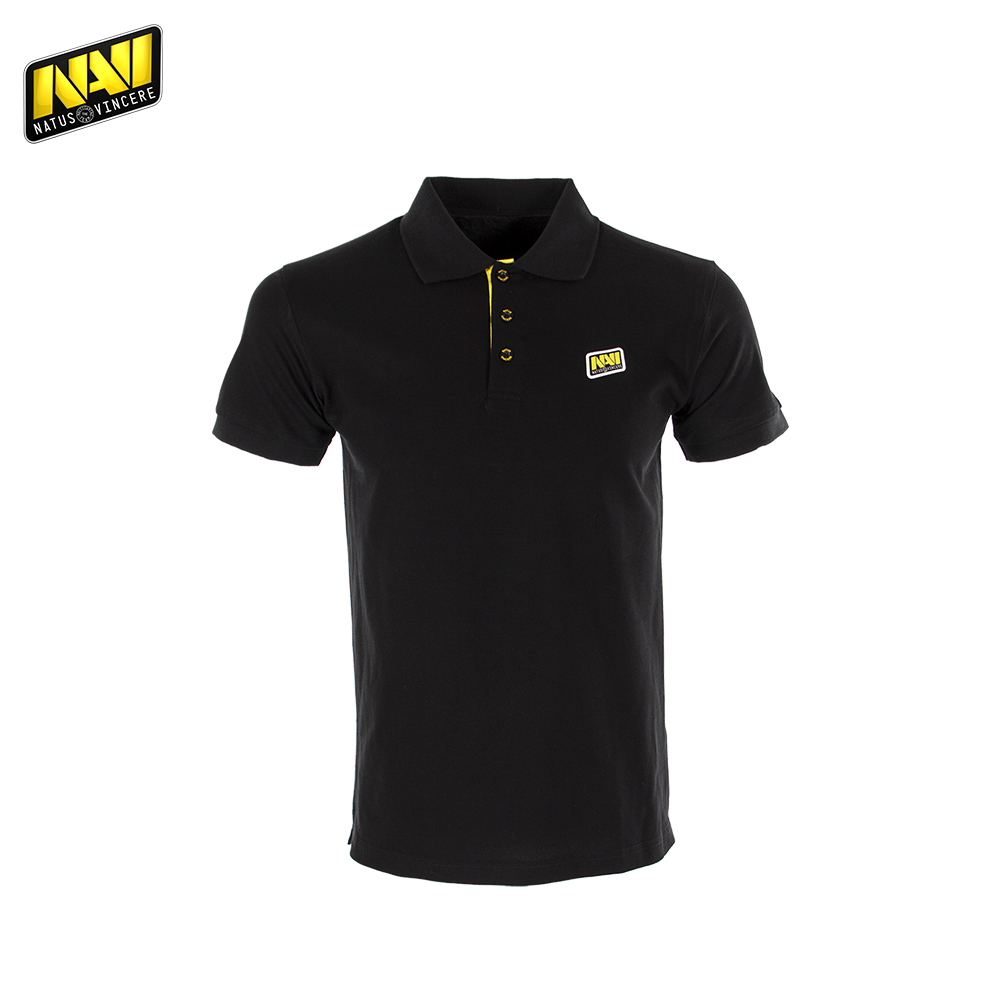 Polo Shirts NATUS VINCERE FNVPOLOSH17BK0000 clothes men clothing mens brand Tops Tees Cotton Casual NAVI CS:GO Dota 2 esports new arrival 2017 polo fashion men bags casual leather messenger bag high quality man brand business bag men s handbag