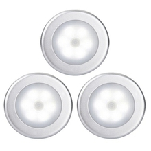 Cool Portable 6 LED Wireless Motion Sensor Night Light Battery-Powered with Sticker 3 Pack
