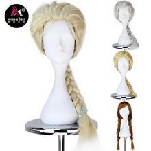 Miss U Hair syntetyczna księżniczka dziecko dorosła peruka długi prosty warkocz włosy kostium cosplay na halloween peruka z szpilki do włosów
