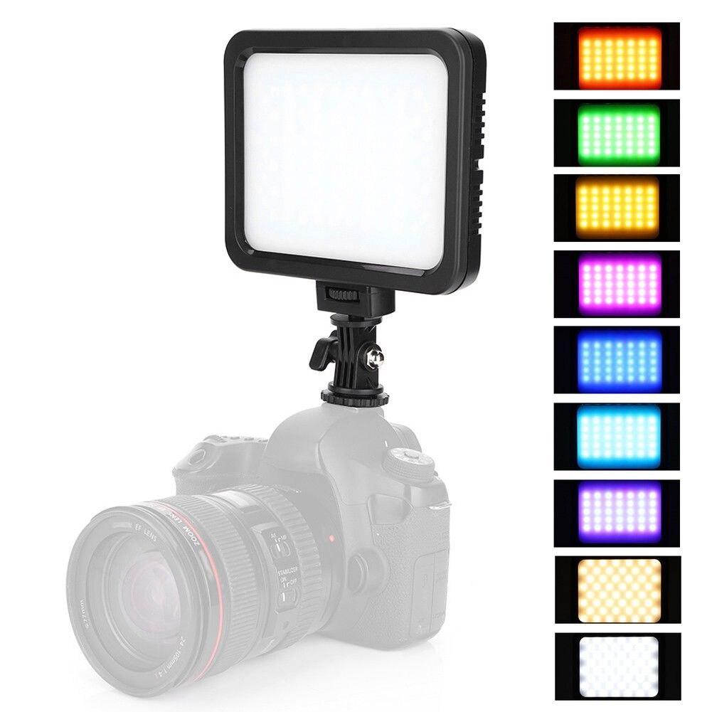 TTKK ZIFON ZF-RGB360 multicolore et 3200 K-5700 K LED lumière vidéo lampe Photo Studio éclairage pour caméra OY