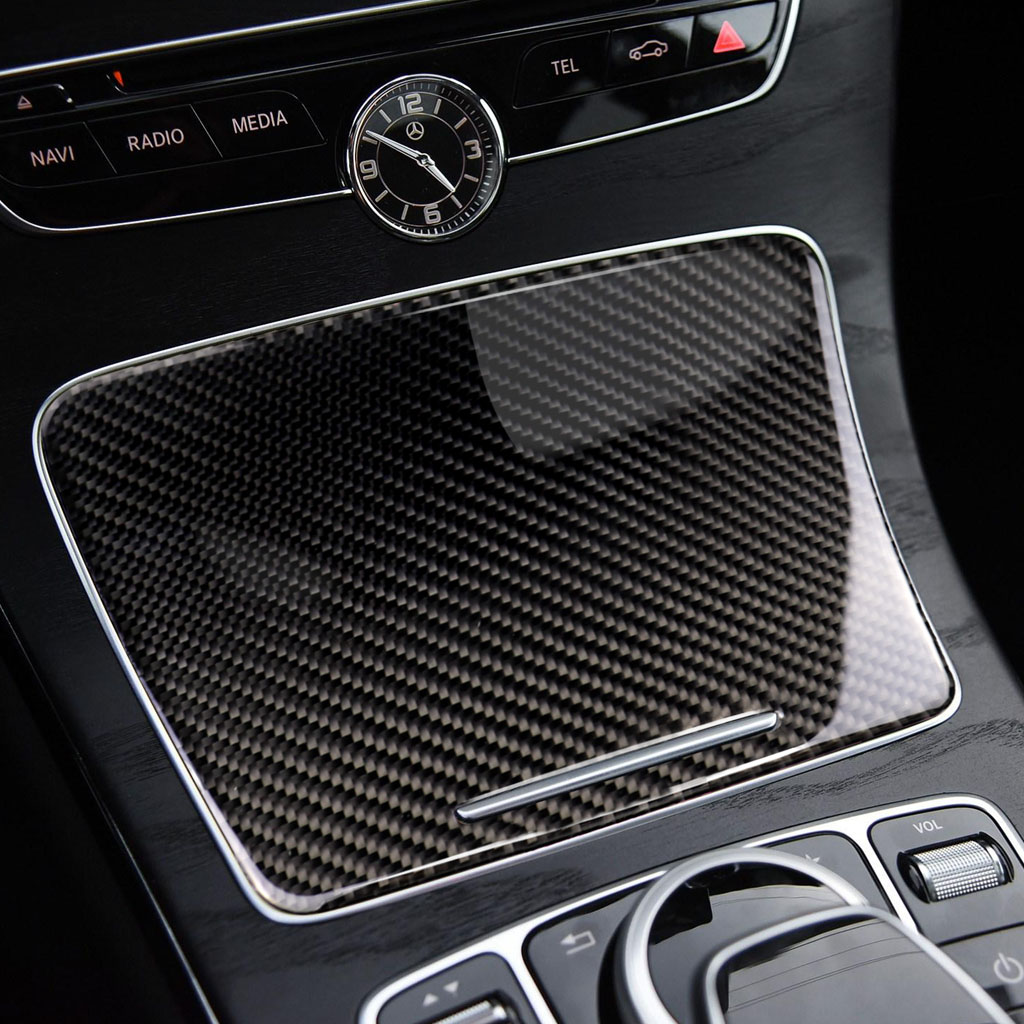 Image 5 - For Mercedes Benz C Class W205 C180 C200 C300 GLC260 Carbon Fiber Car Water Cup Holder Panel Cover-in Interior Mouldings from Automobiles & Motorcycles