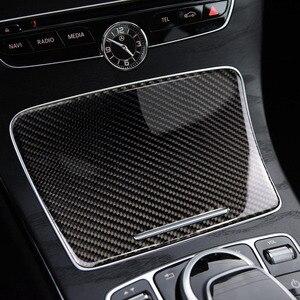 Image 5 - Per Mercedes Benz Classe C W205 C180 C200 C300 GLC260 In Fibra di Carbonio Auto Supporto di Tazza di Acqua Coperchio del Pannello