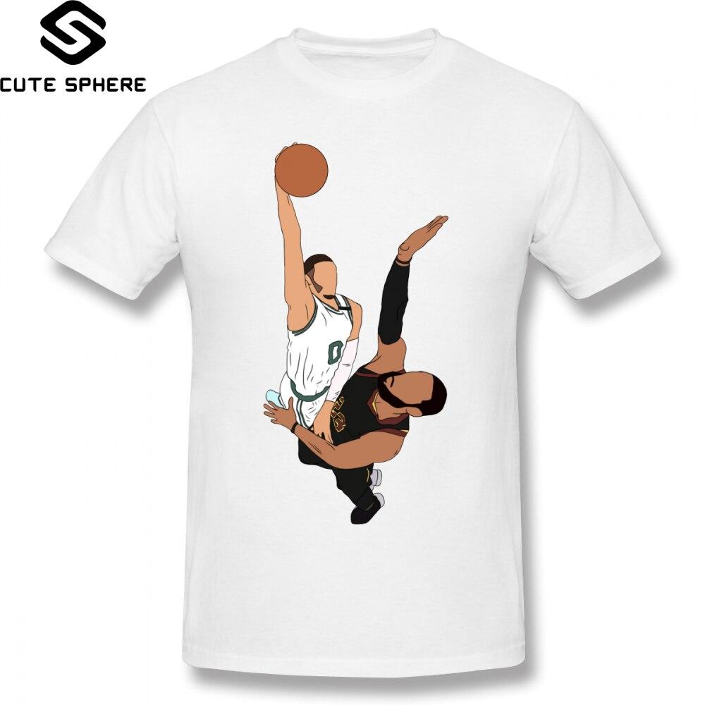 14aca947b8f Slam Dunk T Shirt Jayson Tatum Dunks On LeBron T-Shirt Cotton Plus size Tee  Shirt Casual Mens Fun Graphic Short-Sleeve Tshirt