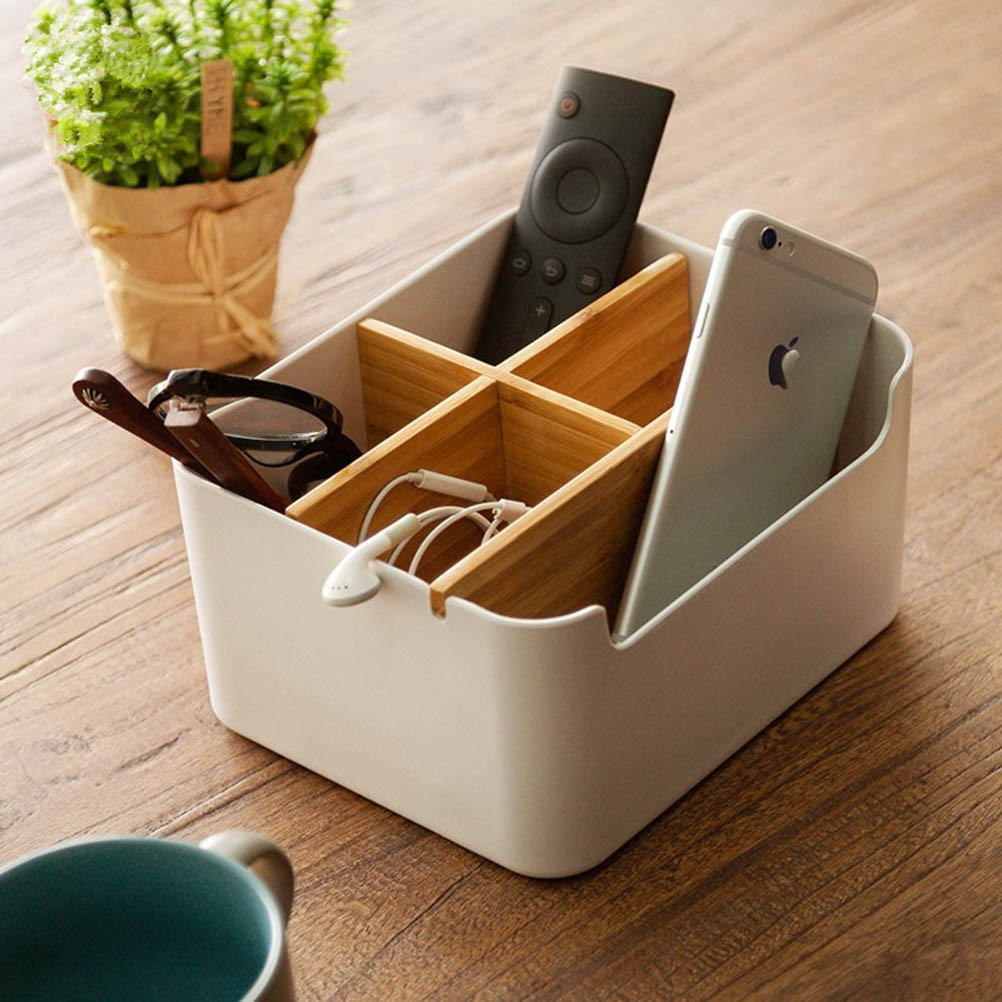 5 Compartment Storage Box Stationery Holder Table Organizer  1