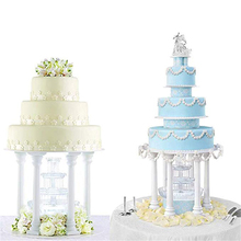 4pcs Pillars Wedding Cake Stands Decorating Tools Multi-layered Roman Column Support Stand Decor 7.5cm 12.5cm 17cm