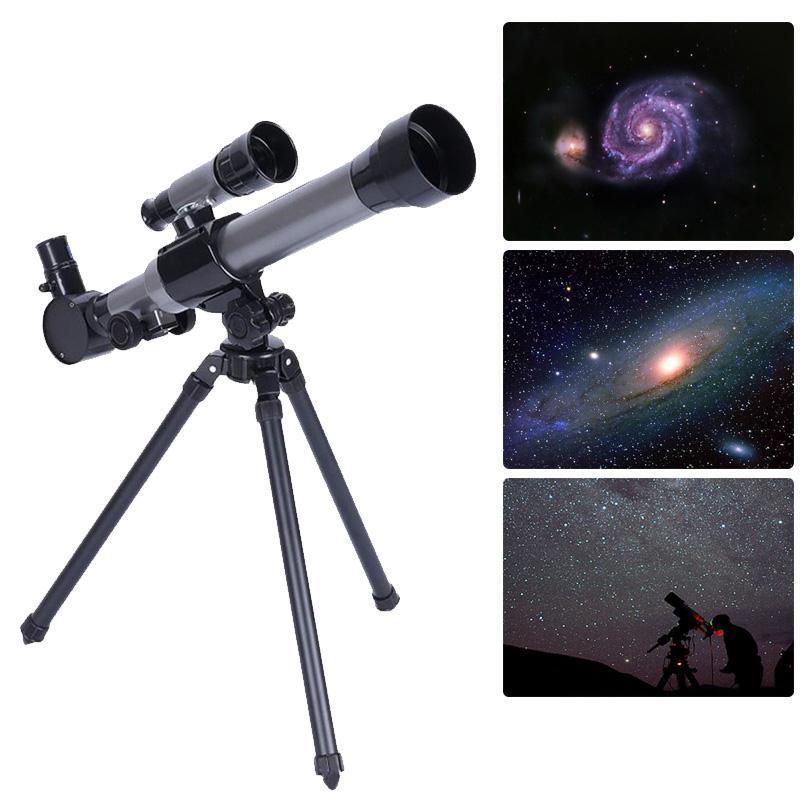 Nova venda ao ar livre telescópio astronômico monocular com tripé portátil brinquedo crianças