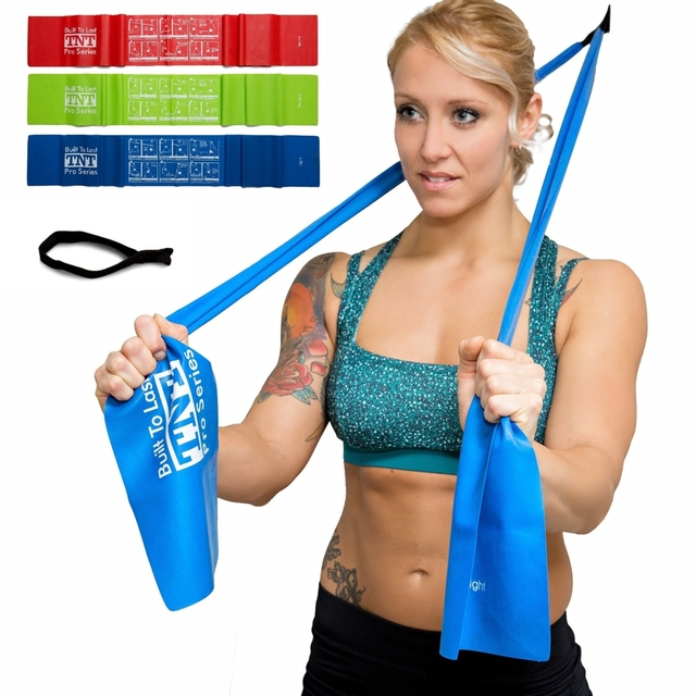 Pro Series Exercise Stretch Bands Resistance Set Heavy Duty Door Anchor