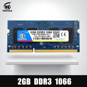 Mémoire VEINEDA Ram DDR3 2 gb 1066 Sodimm ram ddr 3 PC3-8500 204pin Compatible 1333 mhz pour ordinateur portable AMD Intel