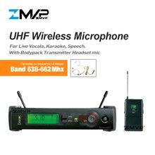 Zmvp UHF профессиональный SLX14 Беспроводной микрофон Системы с SLX нательный передатчик конденсаторный микрофон гарнитуры L4 638-662 МГц