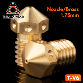 trianglelab T-V6 nozzle Top quality V6 Nozzle for 3D printers hotend M6 Thread for E3D Nozzles hotend titan extruder mellow all metal nf crazy hotend v6 copper nozzle for ender 3 cr10 prusa i3 mk3s alfawise titan bmg extruder 3d printer parts