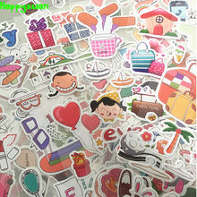 Happyxuan 10packs (20 Sheets) DIY Cartoon PVC Bubble Holiday Girl Scrapbook Stickers Kawaii Candy Ice Cream Children Classic Toy(China)