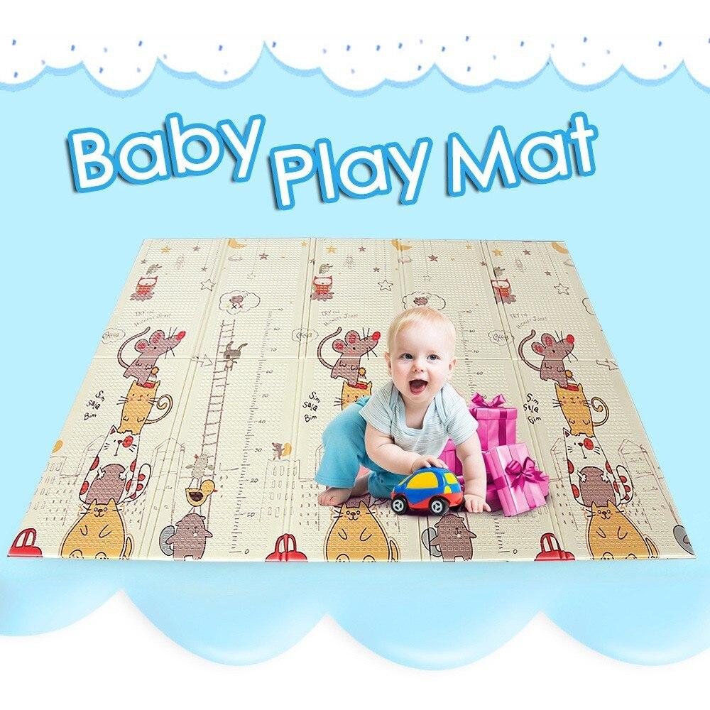 200 CM * 155 CM bébé tapis de jeu enfants tapis de Tapete épaissi sûr XPE pliable Puzzle ramper tapis de jeu pour jeux jouets tapis infantile