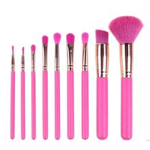 9 pcs Pink Makeup Brushes Set Foundation Powder Eye Shadow Brush Cosmetic Tool Beauty Make up Brush Kit Maquiagem pro 9 pcs makeup brushes set tools make up toiletry kit wool puff foundation powder case cosmetic foundation brush