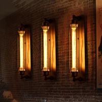 Vintage Edison LED Wall Light Modern Corridor Vintage Retro Industrial E27 110 220V Wall Lamp Led W filament Indoor LED Light