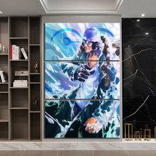 3 Piece Wall Art Anime Poster Picture One Navy Senior General Painting for Home Modern Decor Canvas Wholesale