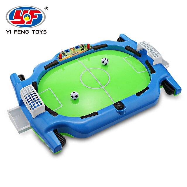 Novel Mini Tabletop Table Soccer Toy Shooting Defending Board Game Football Sport Match Kids Preschool Play Ball Toys