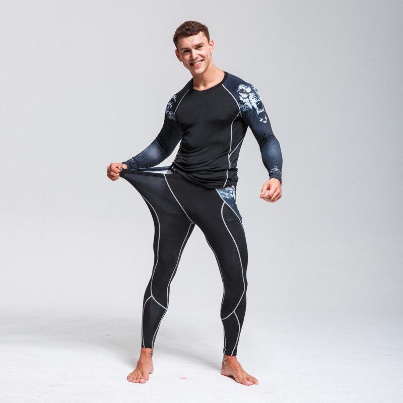 Ski Underwear Set > Men's Winter Thermal Underwear  >Running Tights  Suit  > Compressed Thermal Underwear Workout Clothes 4XL