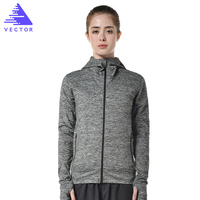 VECTOR Professional Running Jacket Women Breathable Quick drying Running Jersey Outdoor Sports Coat Hiking Run Hooded XXF30004
