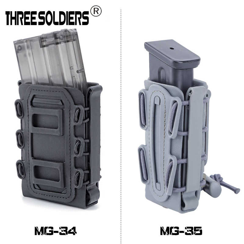 5.56&7.62 Magazine Pouches Military Fastmag Belt Clip plastic molle pouch bag 9mm softshell G-code Pistol Mag Carrier tall