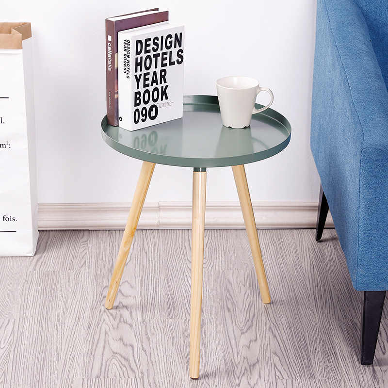 Nordic Table Living Room Apartment Bedroom Corner Desk Home Furniture Small  DIY Assembly Tea Table Round Simple Coffee Table