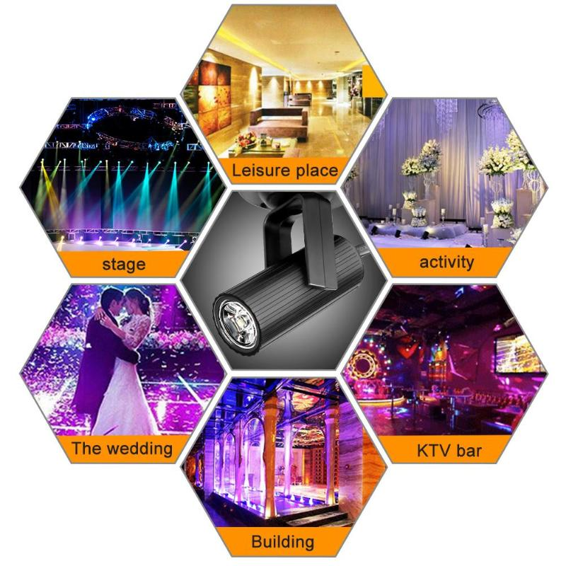 1W LED Stage Spotlight Lamp KTV Bar Music Festival Party Lighting Effect Beam Light Decoration AC 85 265V 50 60Hz Connect Cable in Stage Lighting Effect from Lights Lighting