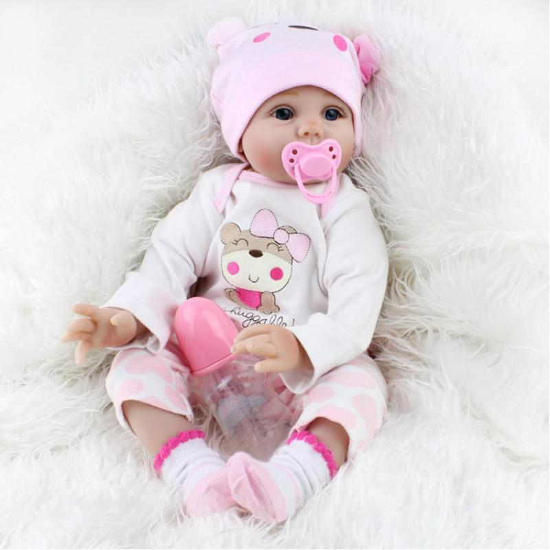 Dolls & Stuffed Toys Toys & Hobbies Birthday And Chrismas Gift Soft Material Realistic Reborn Doll 55cm Reborn Doll Lifelike Gifts