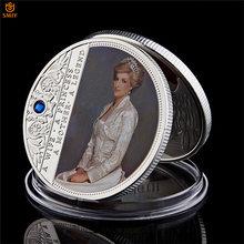 Moneda de Euro coleccionable de La Reina británica Anne Diana con mampostería última rosa, Metal personalizado, SilverToken