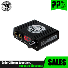 цена на Hot Selling Mini Tattoo Power Supply For Tattoo Machine Foot  Pedal Digital LCD Power Box Supply
